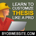 BYOBWEBSITE.COM - Learn to Customize Thesis Like a Pro